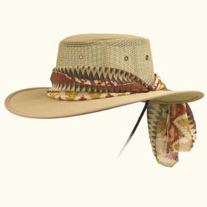 The Ladies Canvas Drover Hat by Barmah