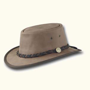 The Narrow Brim Suede Hat by Barmah